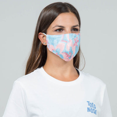 6 Pack | Performance Pique Face Mask pink and blue