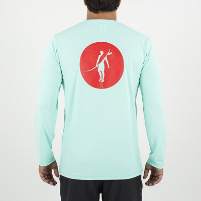 Coaster - UPF Long Sleeve T Shirt Back In AQUA