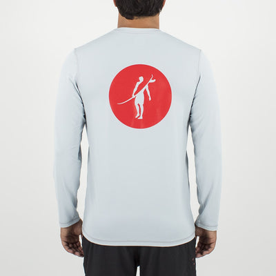 Coaster - UPF Long Sleeve T Shirt Back In LIGHT GREY