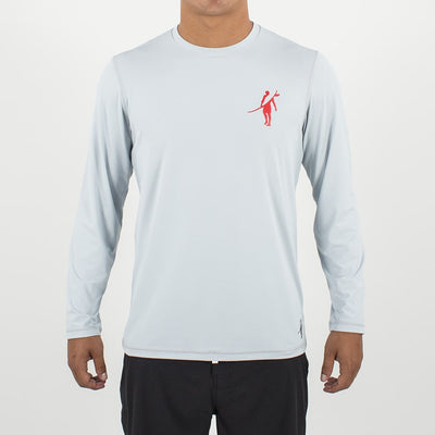 Coaster - UPF Long Sleeve T Shirt Front In LIGHT GREY