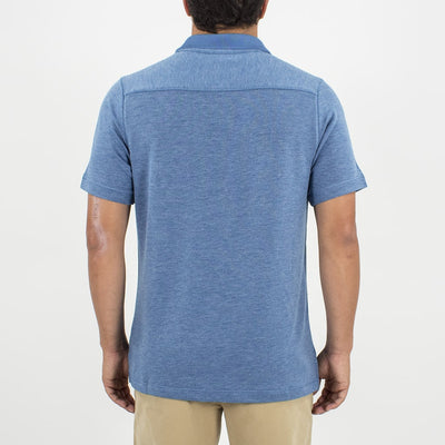 Leeward Polo (Sea Silk) HEATHER BLUE
