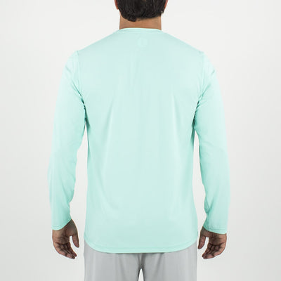 Dawn Patrol - SPF Long Sleeve Swim Shirts Back In AQUA