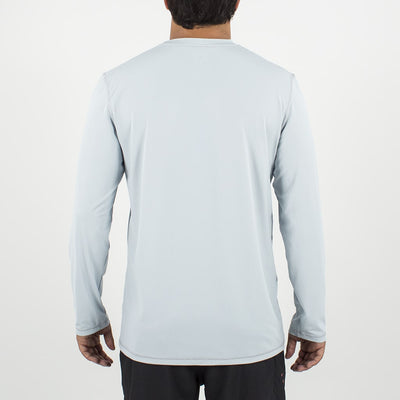 Dawn Patrol - SPF Long Sleeve Swim Shirts Back LIGHT GREY