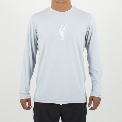 Dawn Patrol - SPF Long Sleeve Swim Shirts Front In LIGHT GREY