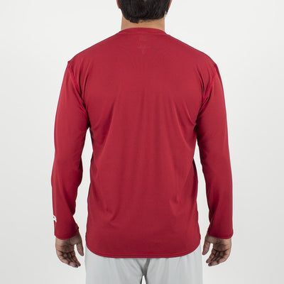Dawn Patrol - SPF Long Sleeve Swim Shirts Back In ELEMENT RED