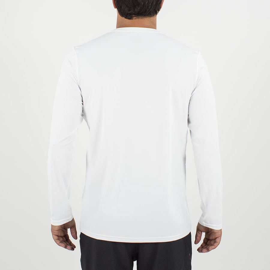 Dawn Patrol - SPF Long Sleeve Swim Shirts Front In WHITE