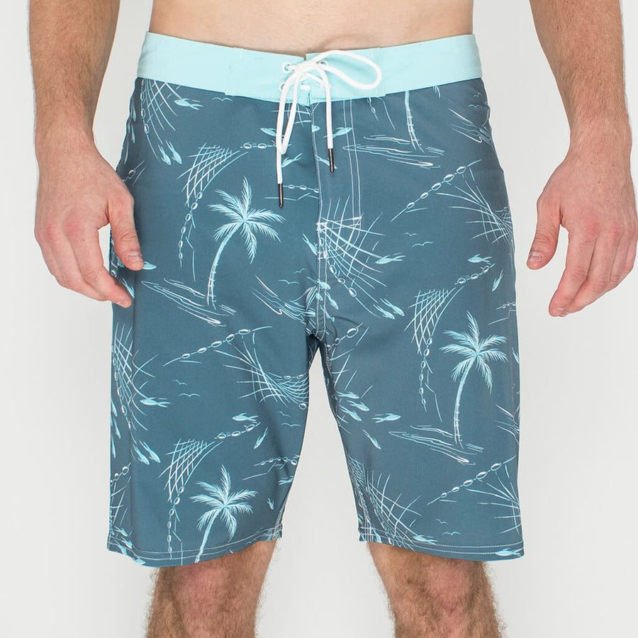 Fishin' N Wishin' Boardshort FISHIN CHARCOAL
