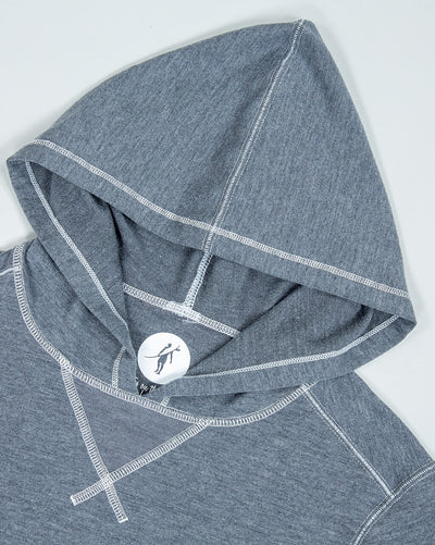 Schooner Hoodie Women's (Sea Silk) Dark Heather Grey Hood