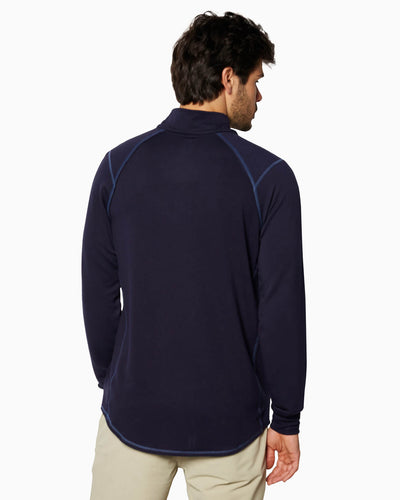 Barrel | Long Sleeve Raglan Half-Zip (Sea Silk) NAVY