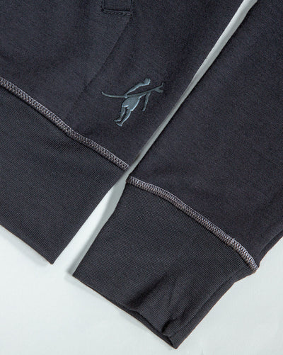 Windward L/S Zip Hoodie (Sea Silk) BLACK
