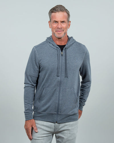 Windward L/S Zip Hoodie (Sea Silk) DARK HEATHER GREY