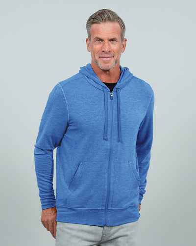 Windward L/S Zip Hoodie (Sea Silk) HEATHER BLUE