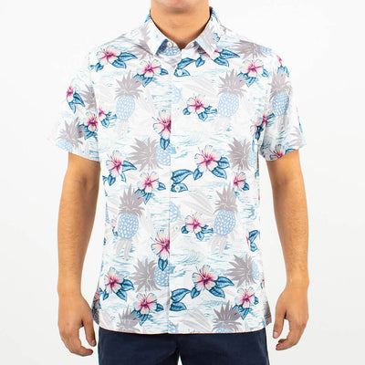 Pineapple Wave Button-Up PINEAPPLE WHITE