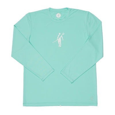 Dawn Patrol - SPF Long Sleeve Swim Shirts Front In AQUA
