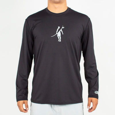 Dawn Patrol - SPF Long Sleeve Swim Shirts Front In BLACK