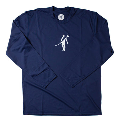 Dawn Patrol - SPF Long Sleeve Swim Shirts Front In ELEMENT NAVY