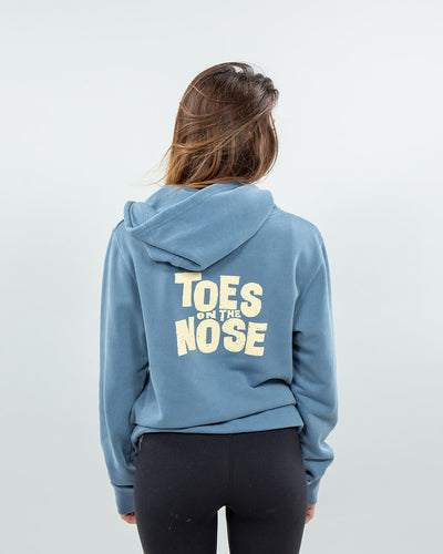 Stacked Hoodie Women's Blue Back