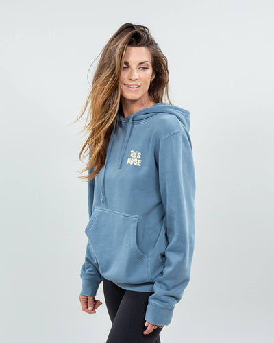Stacked Hoodie Women's Blue Side