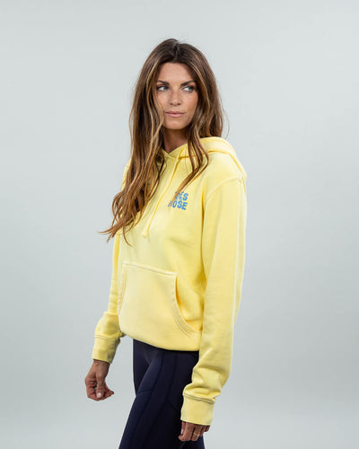Stacked Hoodie Women's Yellow Side