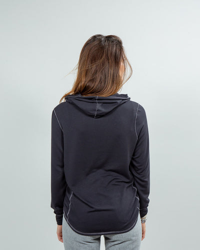 Schooner Hoodie Women's (Sea Silk) Black Back