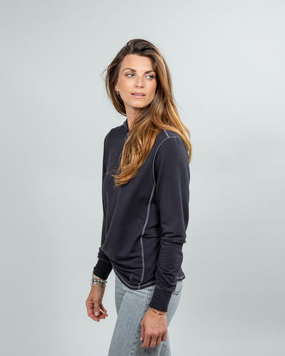 Schooner Hoodie Women's (Sea Silk) Black Side