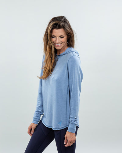 Schooner Hoodie Women's (Sea Silk) Pacific Left Side