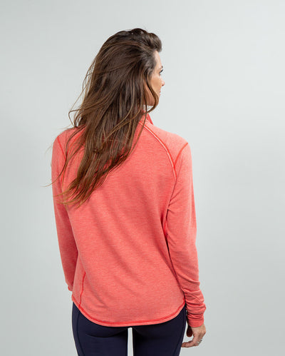 Barrel Quarter-Zip Women's (Sea Silk) Nantucket Back