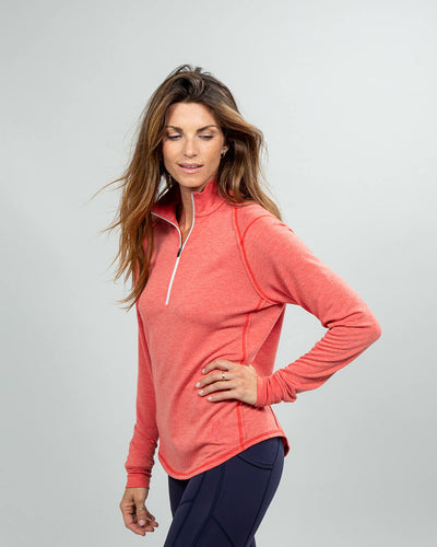 Barrel Quarter-Zip Women's (Sea Silk) Nantucket Side