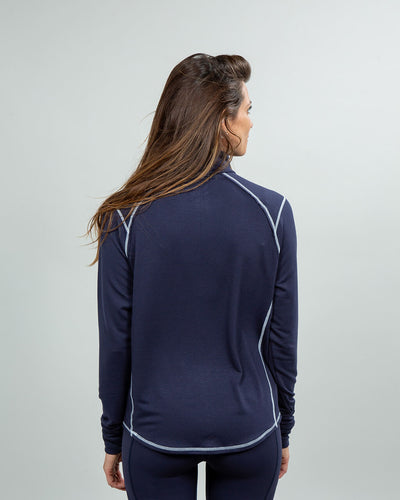 Barrel Quarter-Zip Women's (Sea Silk) Navy Back