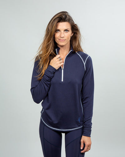 Barrel Quarter-Zip Women's (Sea Silk) Navy
