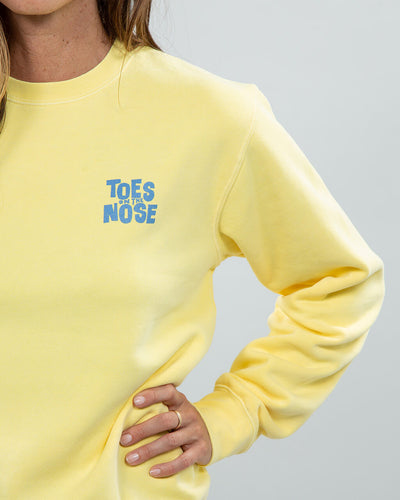 Stacked Hoodie Women's Yellow logo detail