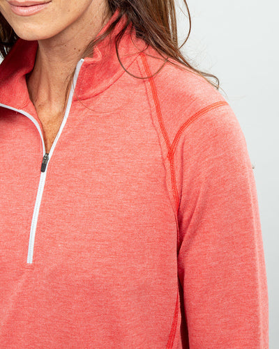 Barrel Quarter-Zip Women's (Sea Silk) Nantucket Side detail