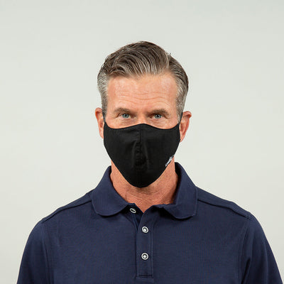 Flight Crew Reusable Face Mask in Black Front