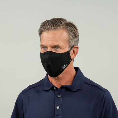 Flight Crew Reusable Face Mask in Black from angle