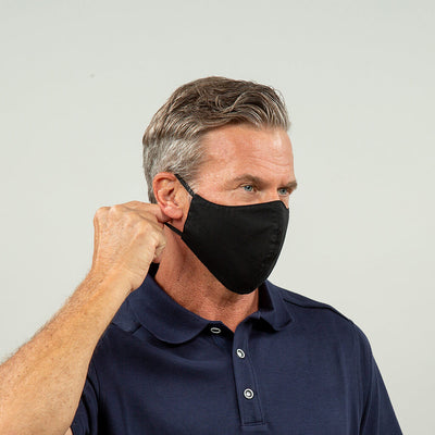 Flight Crew Reusable Face Mask in Black Fixed