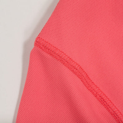 Dawn Patrol - SPF Long Sleeve Swim Shirts Front In SUMMER RED detail