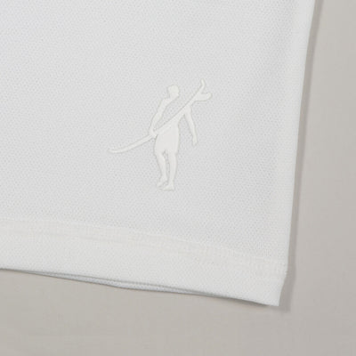Protector - UPF 50 Men's T Shirts Back In WHITE logo