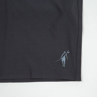 Jaws Stretch Boardshort BLACK Shadowman Detail