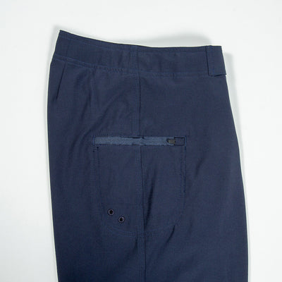 Jaws Stretch Boardshort NAVY Back Pocket Detail