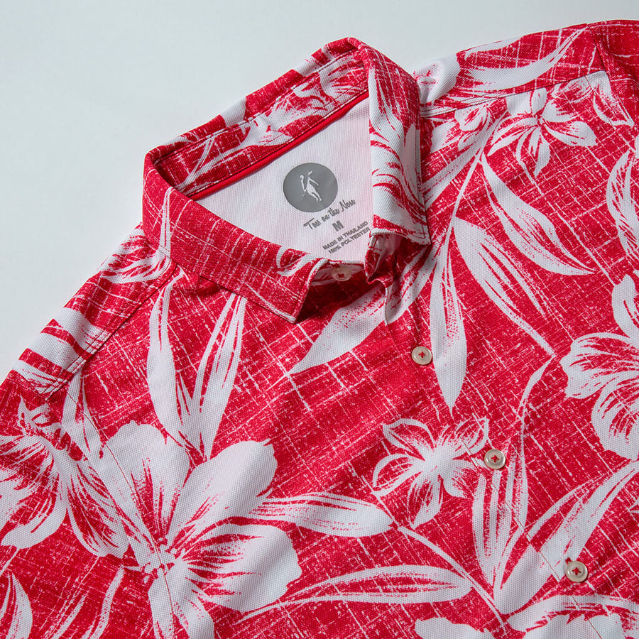 Retreat | Performance Button-Up RETREAT RED