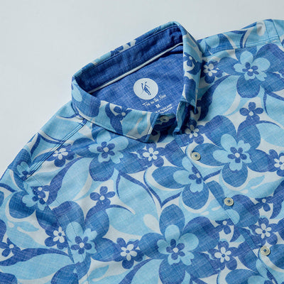 Road Trip 2 | Performance Button-Up ROAD TRIP BLUE