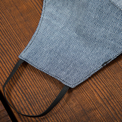 Spread Aloha | Reusable Face Mask For Germs Detail In HERRINGBONE