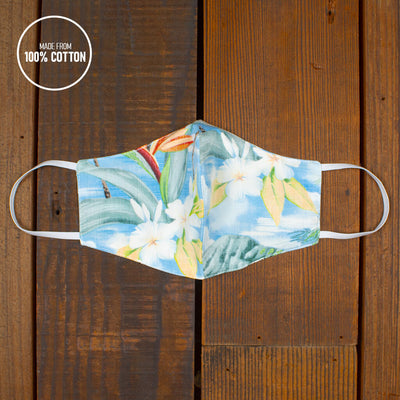 Spread Aloha | Reusable Face Mask For Germs In PARADISE BLUE
