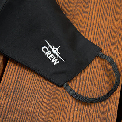 Flight Crew Reusable Face Mask in Black from side
