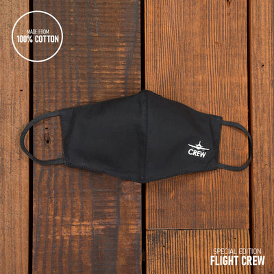 Flight Crew Reusable Face Mask in Black