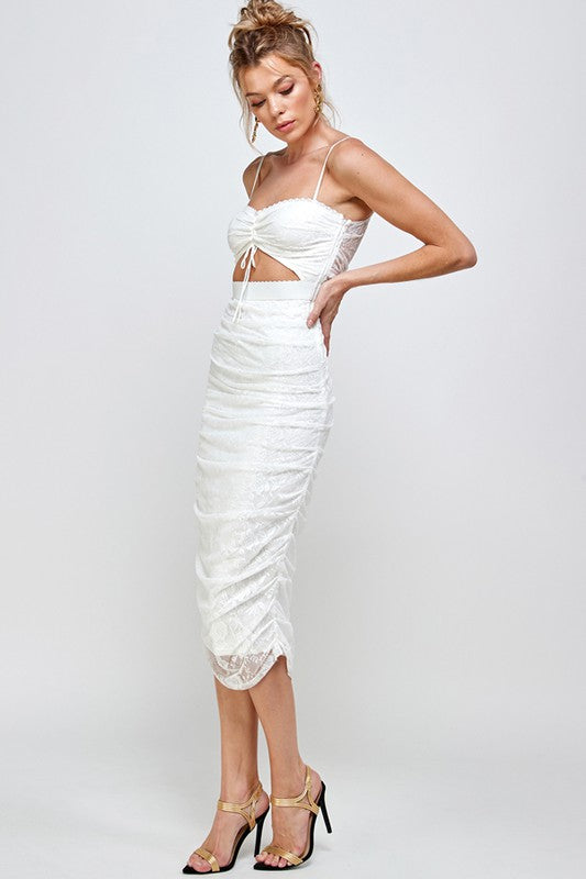 Velas Maxi Dress-White