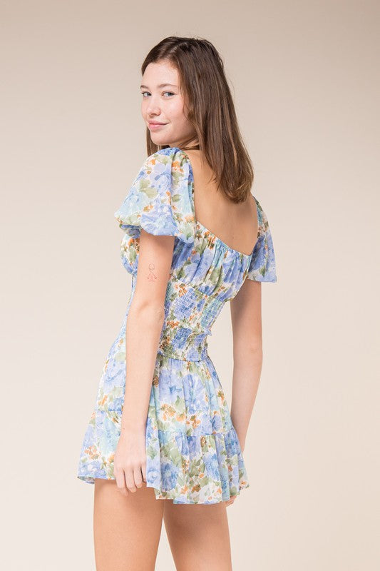 Botanical Garden Dress-Ocean