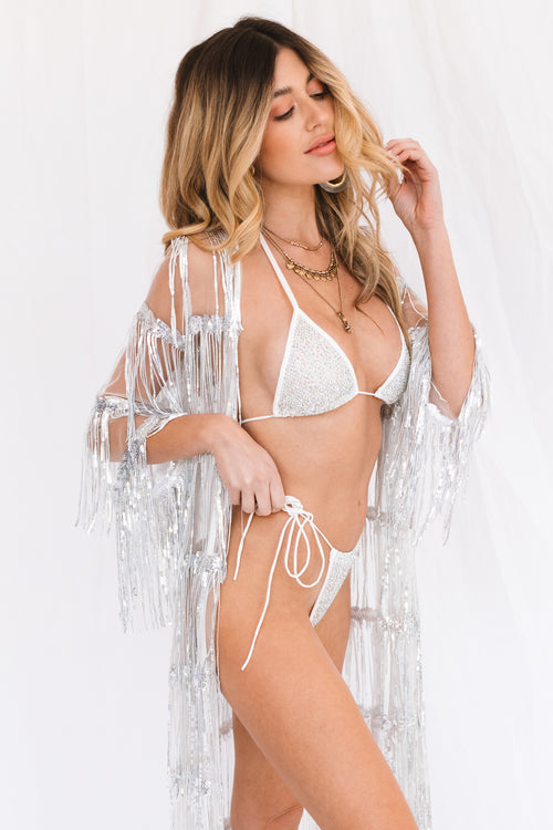 Desert Jewel Bikini Set-White