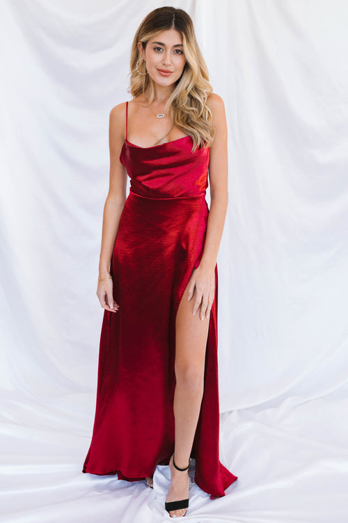Hartley Maxi Dress-Merlot