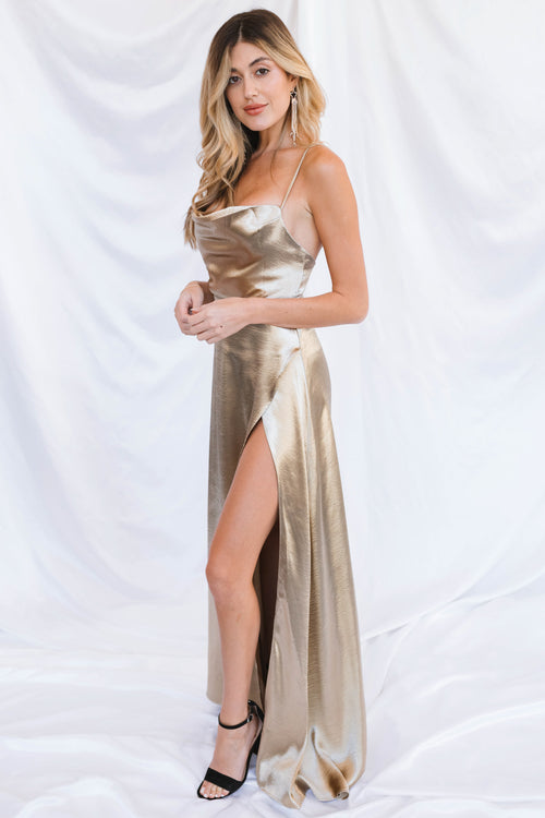 Hartley Maxi Dress-Gold